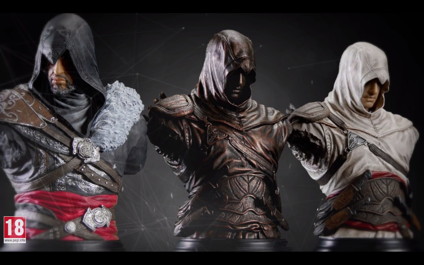 Assassin's Creed busts: Altair & Ezio trailer