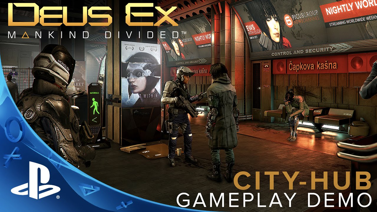 Deus Ex: Mankind Divided – City-hub Gameplay Demo
