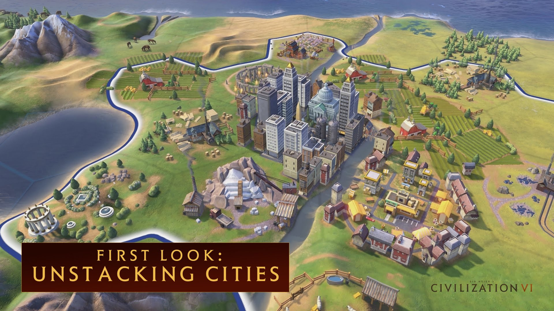 CIVILIZATION VI - First Look: Unstacking Cities - International Version