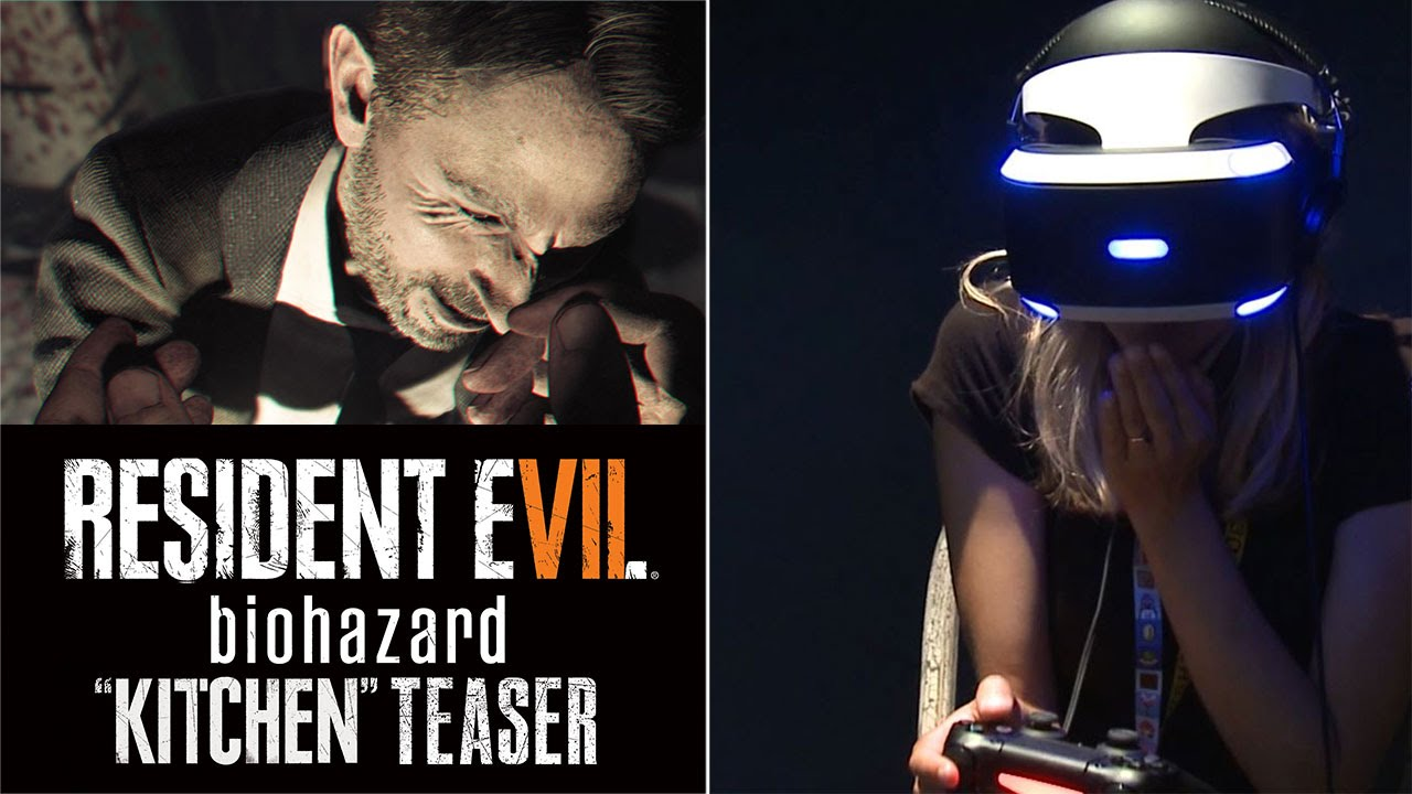 "Resident Evil 7 ""Kitchen"" PSVR Teaser Gameplay & Reactions"