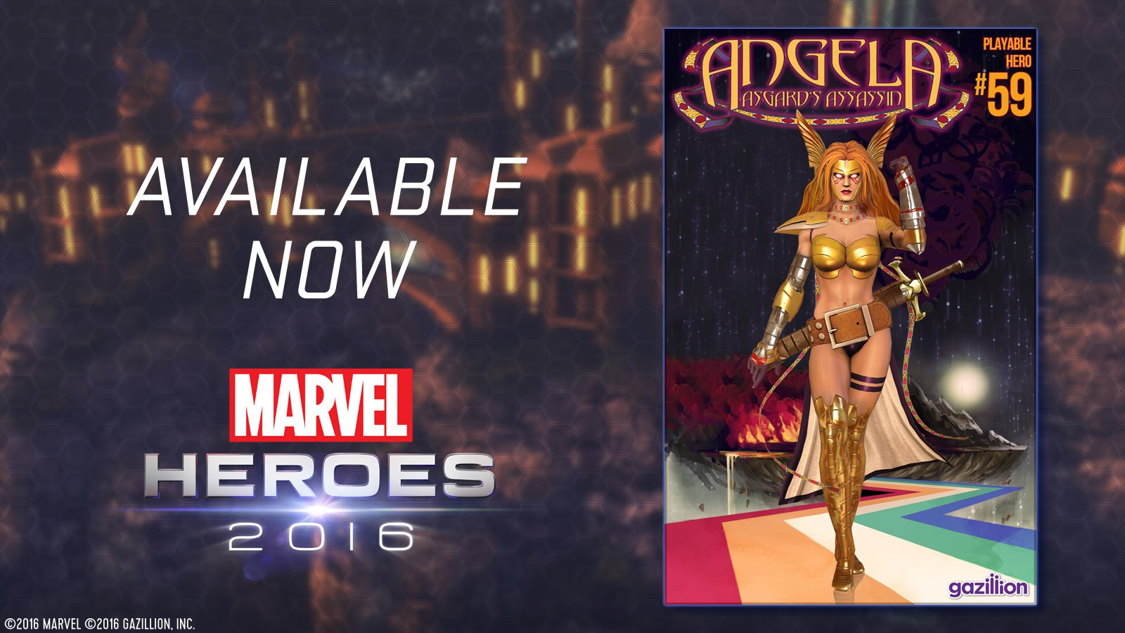 Angela Joins Marvel Heroes 2016!