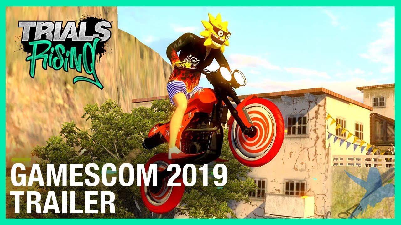Trials Rising: Crash & Sunburn DLC Reveal – Gamescom 2019 Trailer