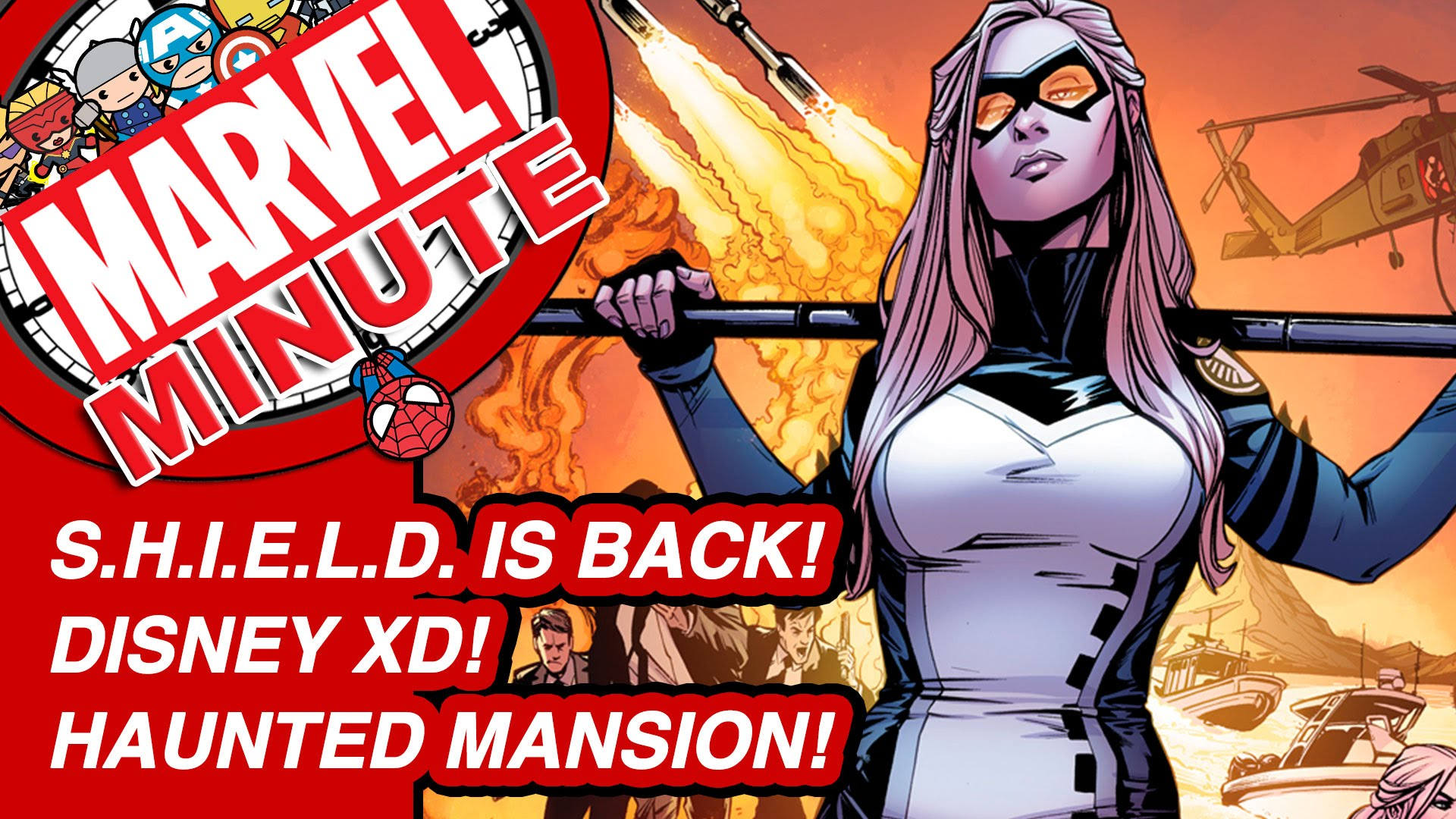S.H.I.E.L.D. is back! Disney XD! Haunted Mansion! - Marvel Minute 2016